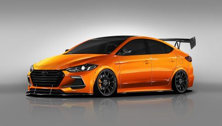 BTR gives Hyundai Elantra racer look for SEMA show