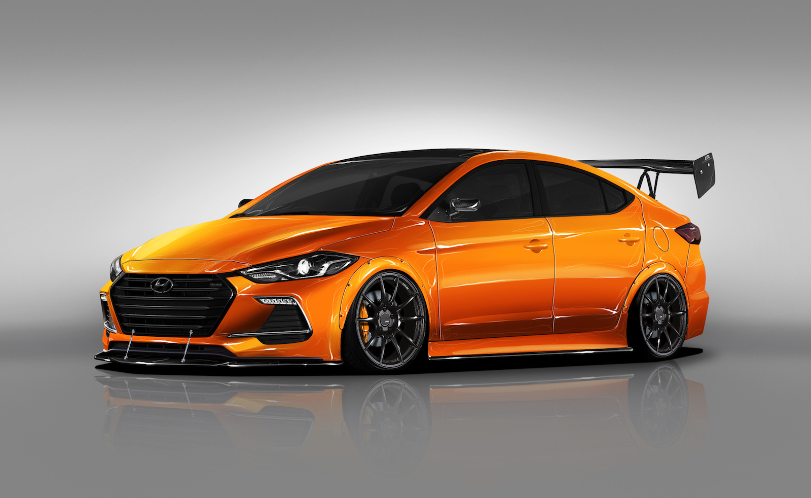 Btr Gives Hyundai Elantra Racer Look For Sema Show