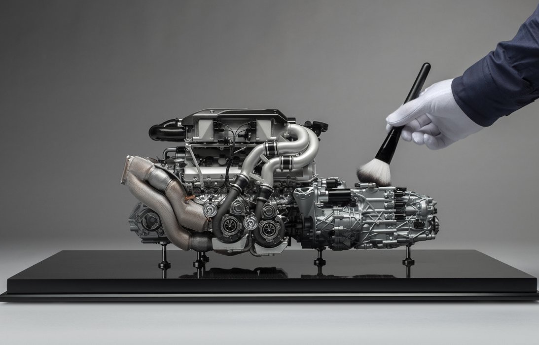 for sale incredibly detailed bugatti chiron engine 1 4 scale model performancedrive