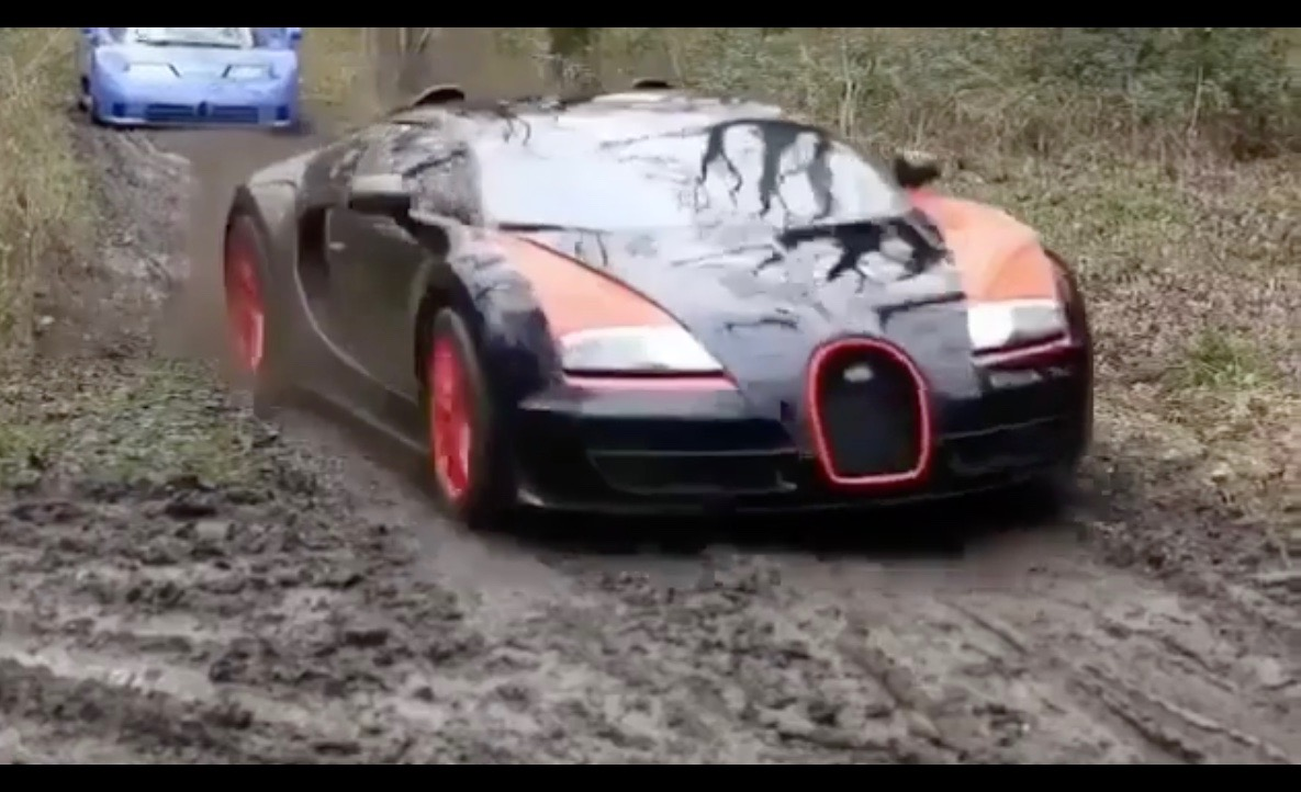 Don Davis Ford >> Video: Bugatti Veyron, LaFerrari, Countach go drifting in the mud | PerformanceDrive