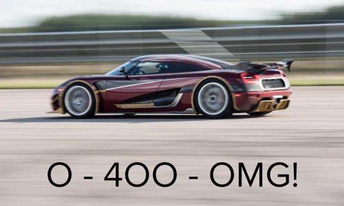 Koenigsegg Agera RS topples Bugatti's 0-400-0km/h record (video)