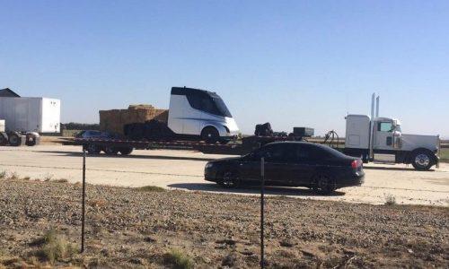 Tesla truck spotted, shows futuristic design