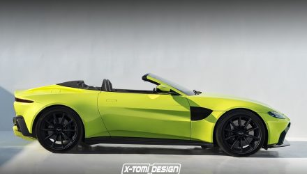 2018 Aston Martin Vantage Volante convertible rendered