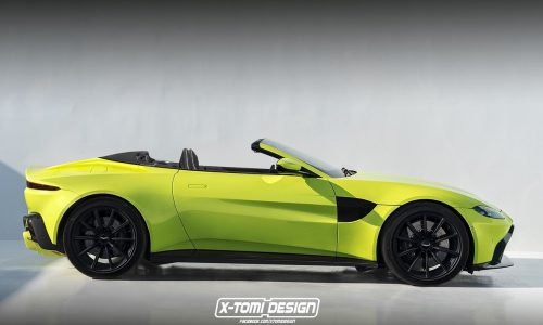 2018 Aston Martin Vantage Volante convertible rendered