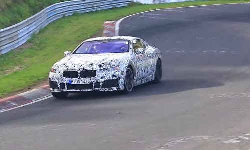 2018 BMW M8 & 850i spied at the Nurburgring (video)