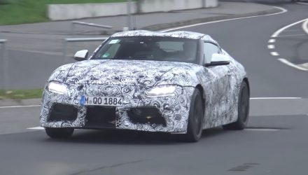 2018 Toyota Supra spotted with production front end (video)