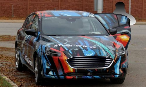 2019 Ford Focus spotted in the wild, wearing colourful disguise