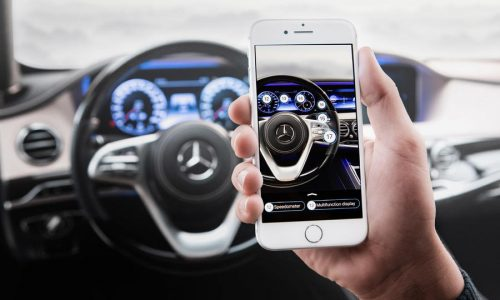 Mercedes Me app tells you if your car has been dented, live