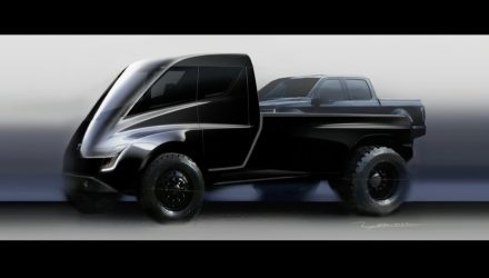 Tesla pickup truck shown during Semi presentation (video)