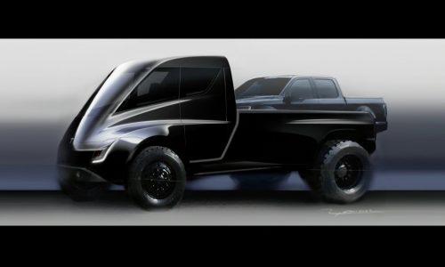 Tesla pickup truck shown during Semi presentation (video)