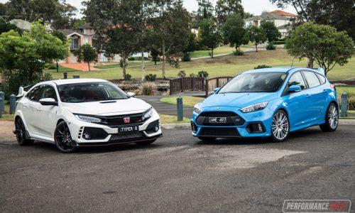 2018 Honda Civic Type R vs Ford Focus RS: hot hatch comparison (video)