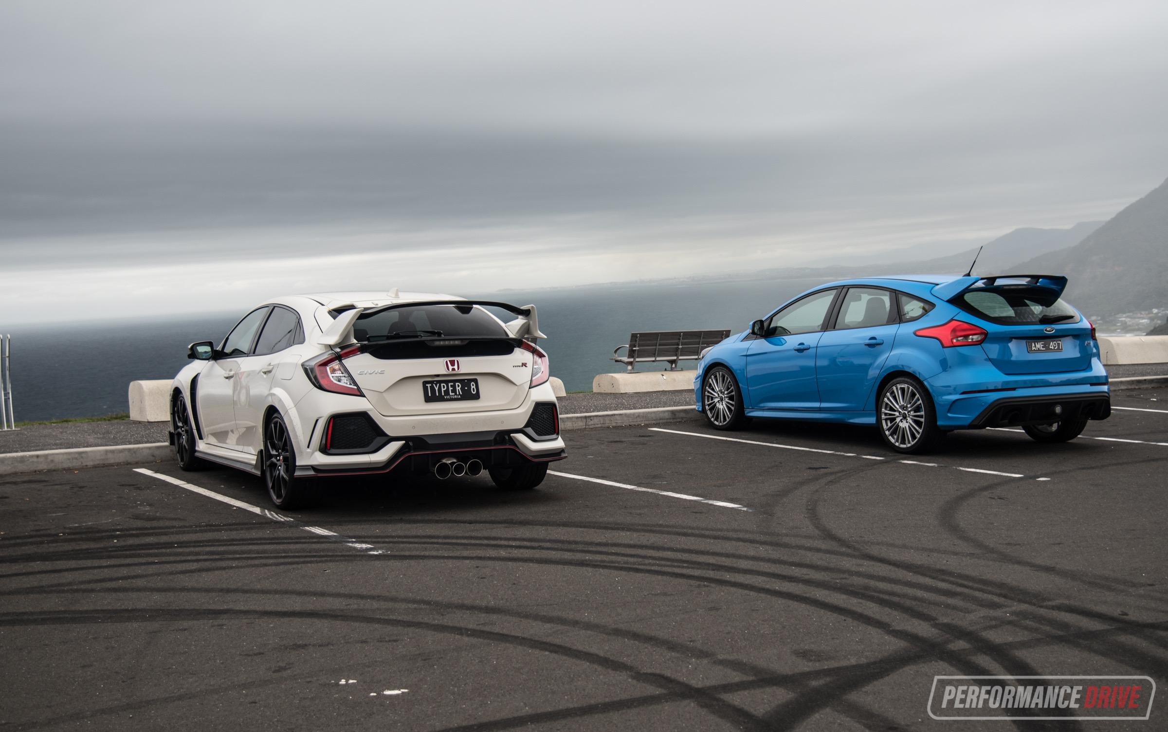 2018 Honda Civic Type R Vs Ford Focus Rs Hot Hatch Comparison