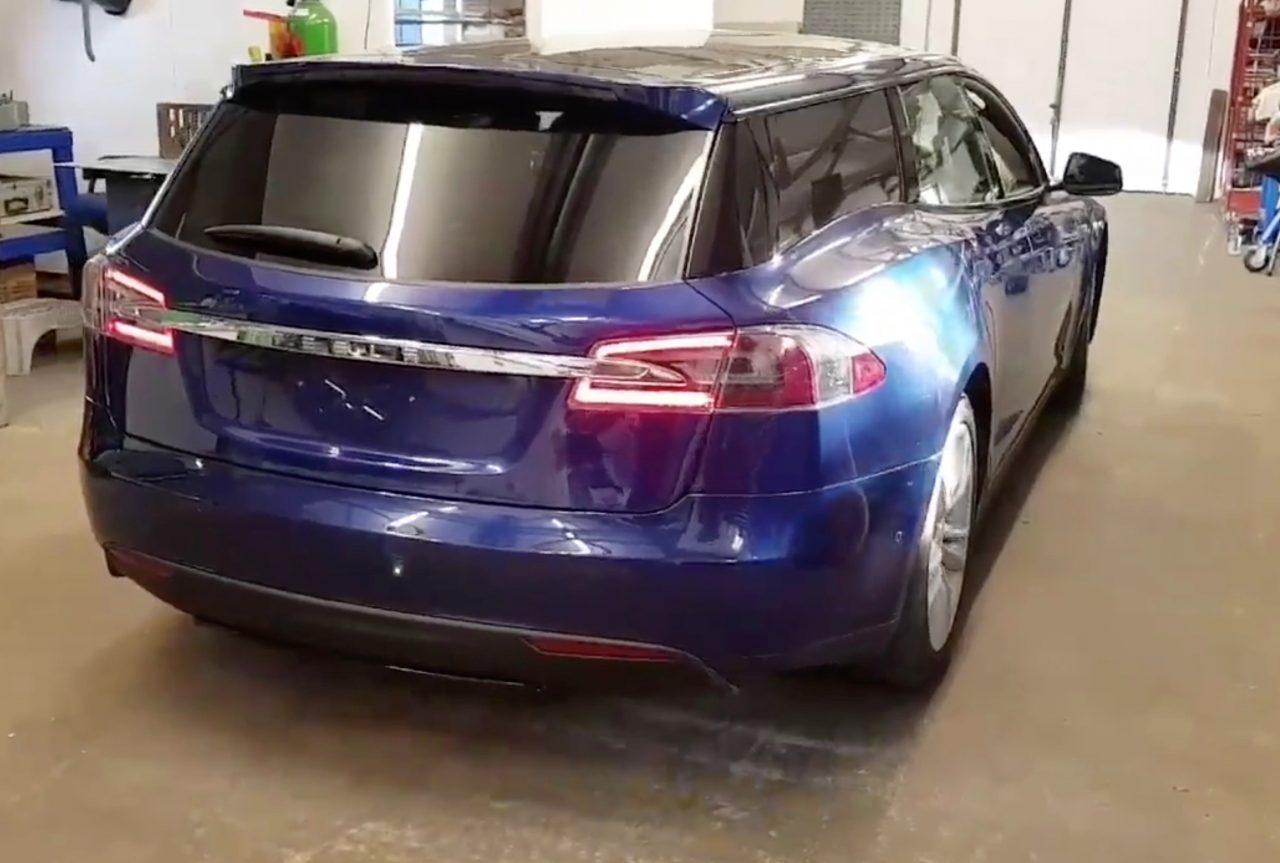 Subaru Station Wagon >> Tesla Model S wagon project complete, looks weird (video) | PerformanceDrive