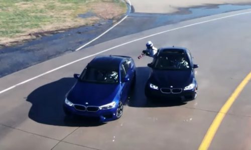 BMW M5 to reclaim world's longest drift with crazy refuelling (video)