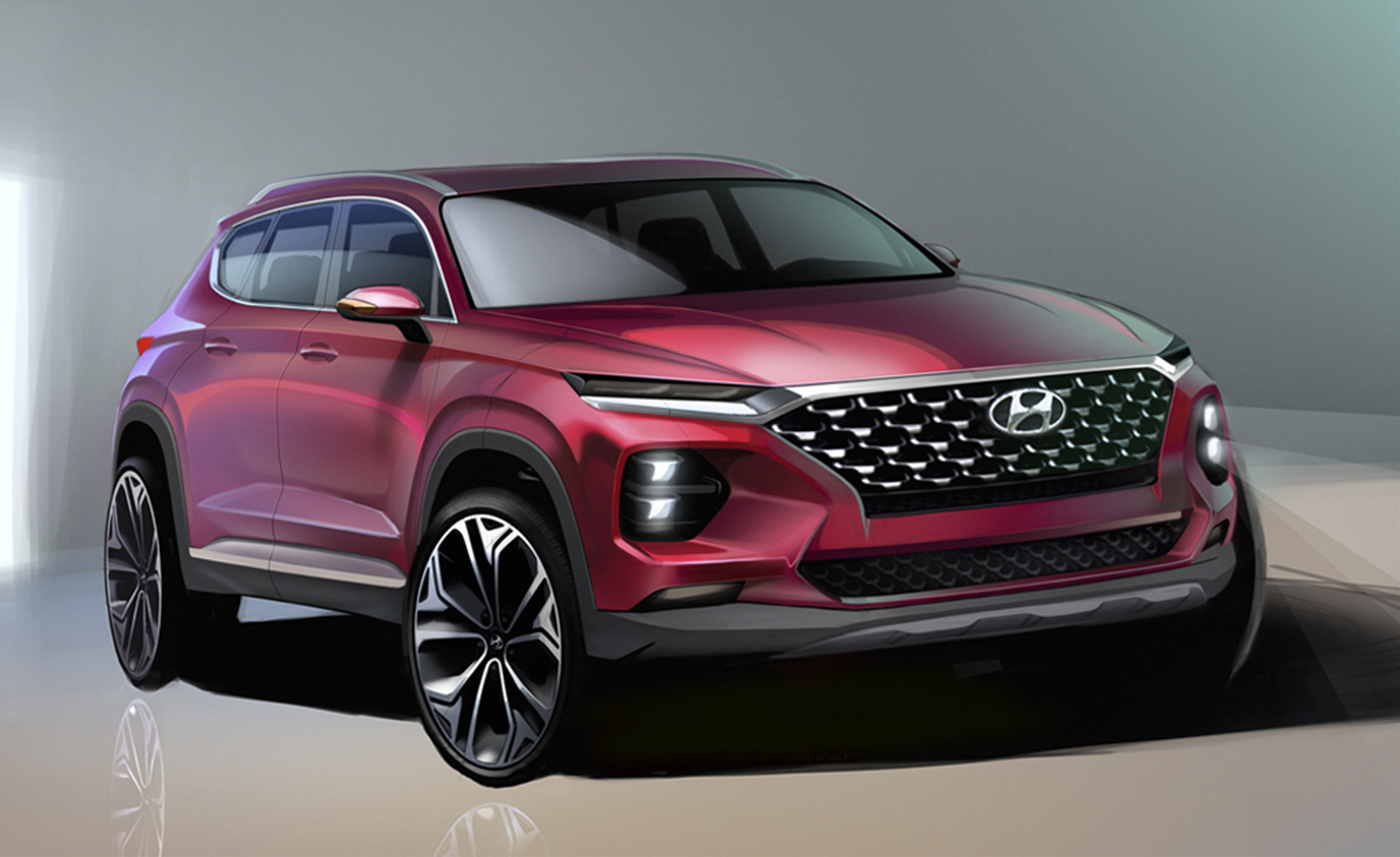 New Lexus Suv >> 2018 Hyundai Santa Fe design revealed, gets Kona treatment | PerformanceDrive