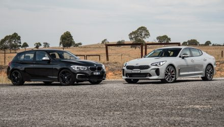 Kia Stinger V6 vs BMW M140i: Young executive car comparison