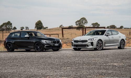 Kia Stinger V6 vs BMW M140i: Young executive car comparison