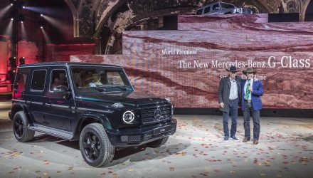 Schwarzenegger helps unveil the 2019 Mercedes-Benz G-Class