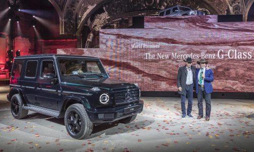 Schwarzenegger helps unveil the 2019 Mercedes-Benz G-Class