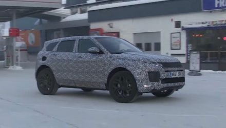 2019 Range Rover Evoque spotted, to debut hybrid powertrain (video)