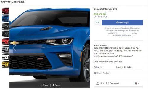 HSV Chevrolet Camaro to start from AU$90,000
