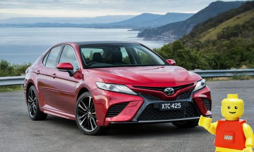 Toyota building full-size LEGO Camry for Brickman Awesome Exhibition