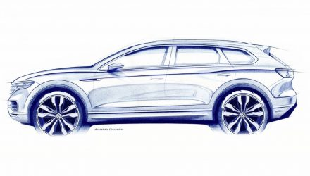 2019 Volkswagen Touareg previewed, rear-wheel steering confirmed