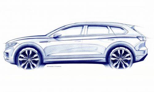 2019 Volkswagen Touareg previewed, rear-wheel steering confirmed