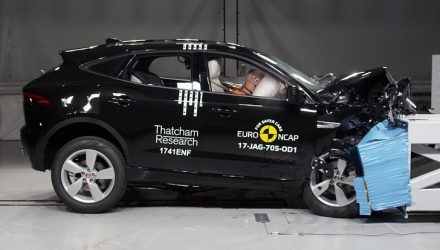 Jaguar E-Pace scores 5-star ANCAP safety rating (video)