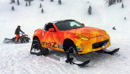 Nissan converts 370Z into a snow mobile with 370Zki concept