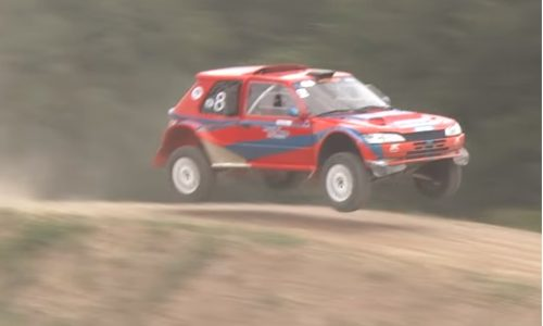 Psychotic Peugeot 205 rally missile is a tri-rotor 20B treat (video)