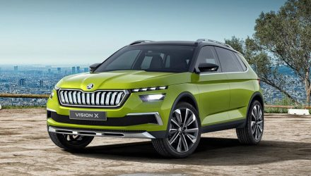 Skoda Vision X Concept revealed with CNG hybrid drivetrain