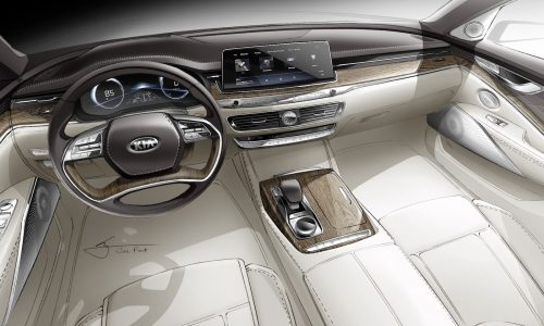 2019 Kia K900 interior previewed with official sketch