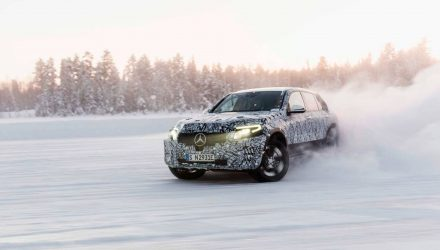 2019 Mercedes-Benz EQC electric SUV prototype completes winter tests