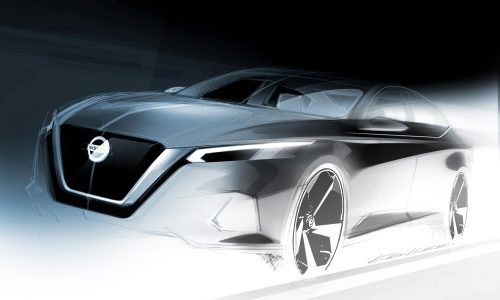 2019 Nissan Altima previewed ahead New York auto show debut