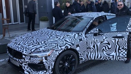 Volvo boss tweets photo of 2019 Volvo S60 prototype