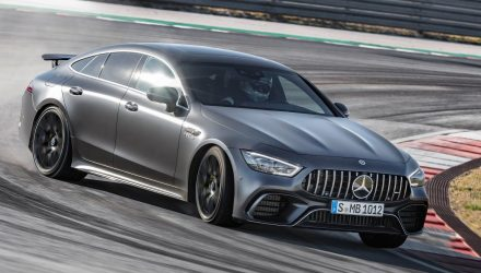 2019 Mercedes-AMG GT 4-Door Coupe says hello at Geneva