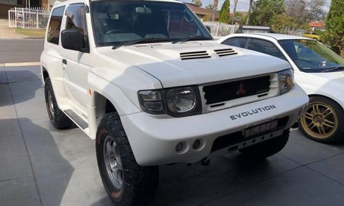 For Sale: Dakar-ready Mitsubishi Pajero Evolution, in Australia