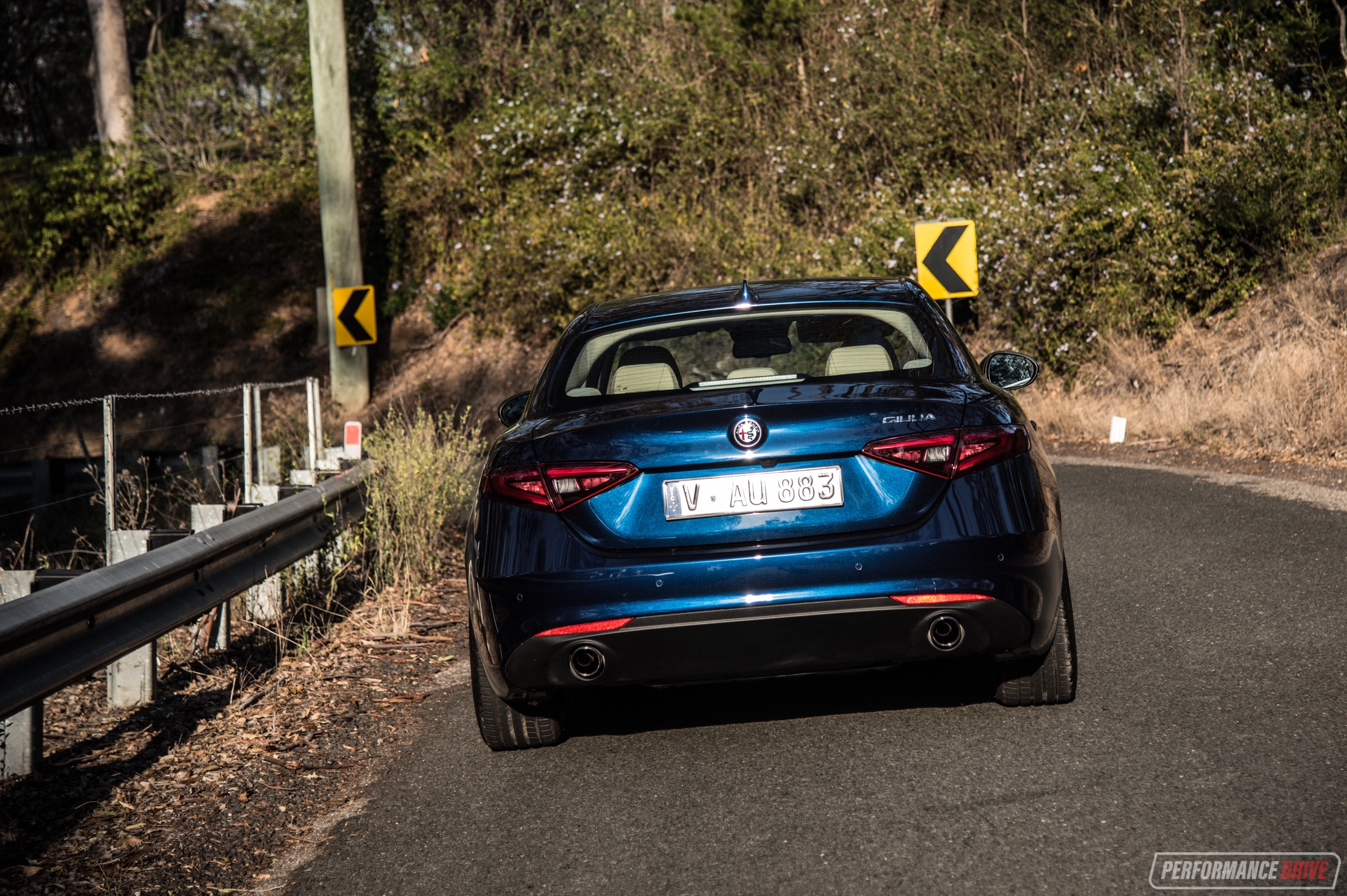 2018 Alfa Romeo Giulia Super Diesel Video Performancedrive Tail Lights Taillights