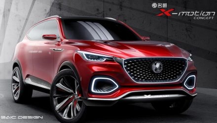 Elegant MG X-motion concept previews new flagship SUV