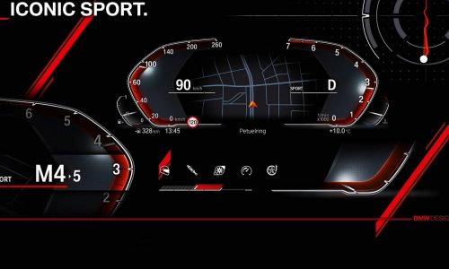 BMW previews new digital instrument cluster with Operating System 7.0
