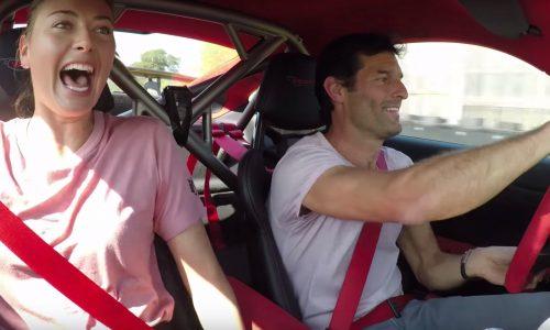 Video: Mark Webber makes Maria Sharapova scream in 911 GT2 RS