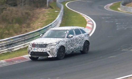 Range Rover Velar SVR continues testing, sounds beefy (video)