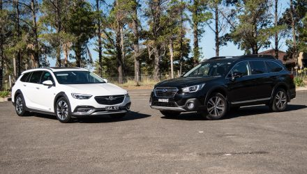 2018 Holden Calais Tourer vs Subaru Outback 3.6R: Adventure wagon comparison (video)