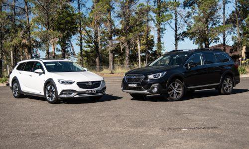 2018 Holden Calais Tourer vs Subaru Outback 3.6R: Adventure wagon comparison (video)