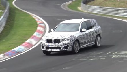 2019 BMW X3 M prototype spotted, drifts on Nurburgring (video)