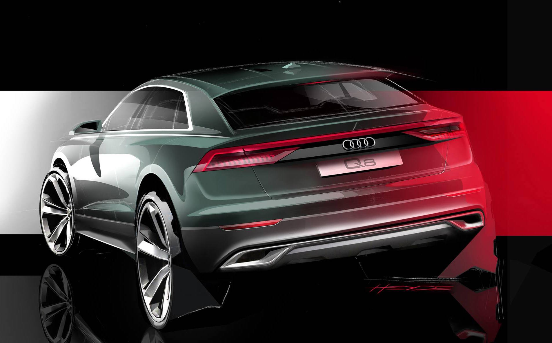 Audi Q8 Preview Shows Sporty Rear End To Debut In June