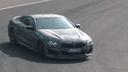 BMW M850i spotted drifting on the Nurburgring, sounds good (video)