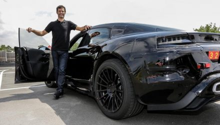 Mark Webber test drives the new Porsche Mission E (video)