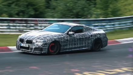 BMW M8 spotted, pushing hard at Nurburgring (video)